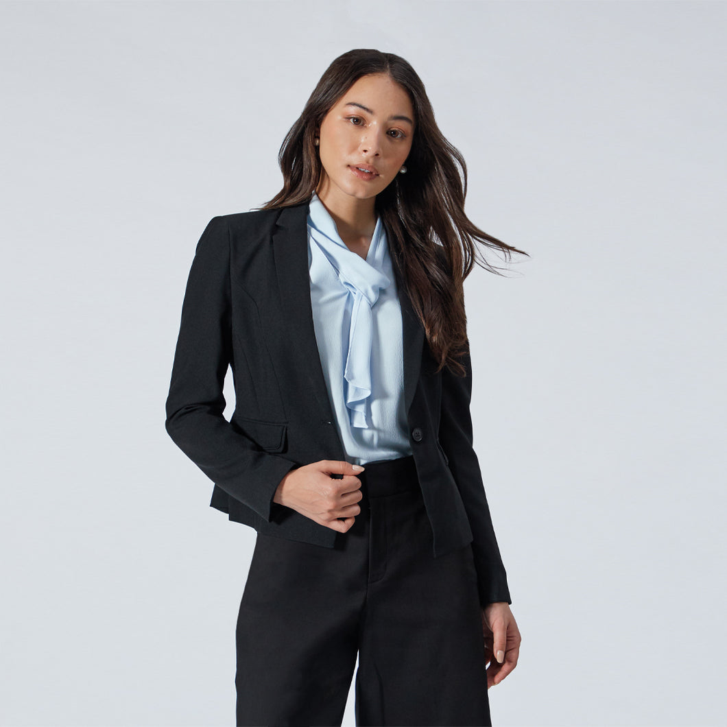 Soft Poly Plain Weave Suit Blazer