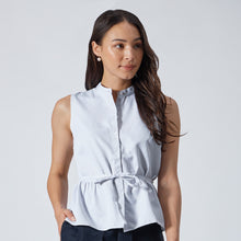 Load image into Gallery viewer, Coolmax Peplum Shirt with Detachable Tie