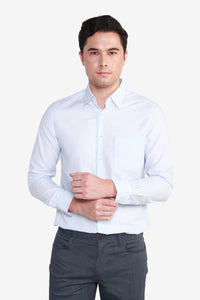 Reg Fit CVC 2 Tone Pattern Shirt