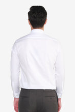 Load image into Gallery viewer, Smart Fit CVC Textured Shirt with Blue Placket Detail