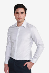 Smart Fit Cotton Yarndye Pencil  Stripe Shirt