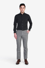 Load image into Gallery viewer, Reg Fit Grey Polyester Textured Pants