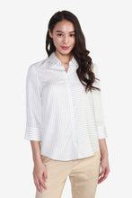 Load image into Gallery viewer, Striped Rayon Blouse with Cropped Sleeves
