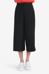 Soft Poly Culottes with Waist Buckle Detail