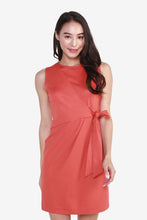 Load image into Gallery viewer, Ponte Side-Knot Sleeveless Dress
