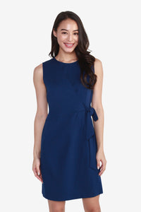 Ponte Side-Knot Sleeveless Dress