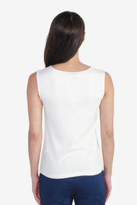 Sleeveless Basic Rib Tee