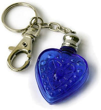 Load image into Gallery viewer, Blue Heart Perfume Bottle Keychain
