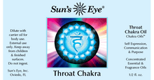 Load image into Gallery viewer, Throat Chakra Oil / Aceite de Chakra de garganta