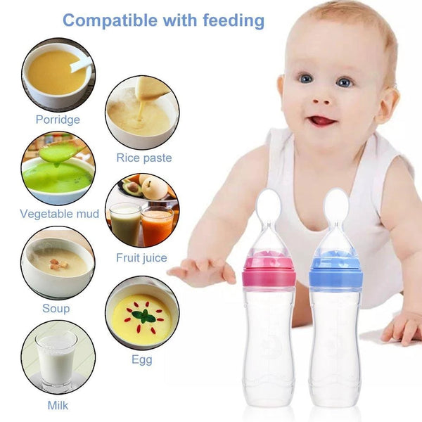 BABY SQUEEZING FEEDING BOTTLE