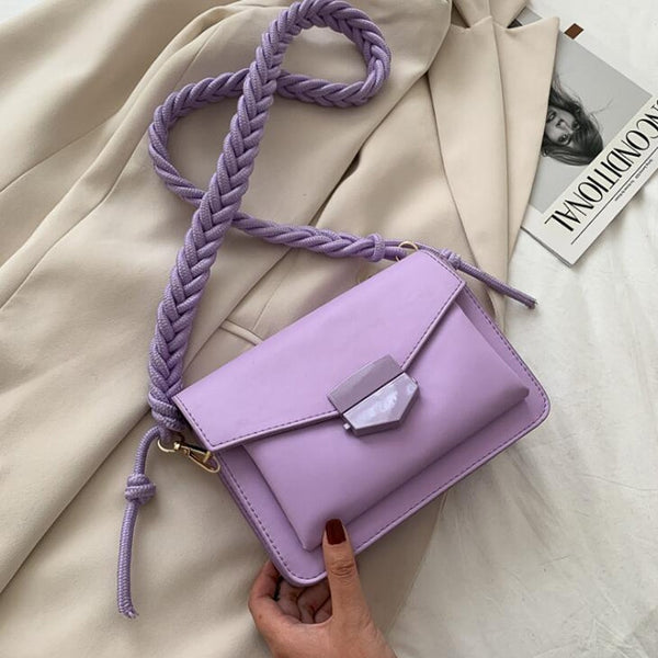 Luxury Knitting Strap Bag