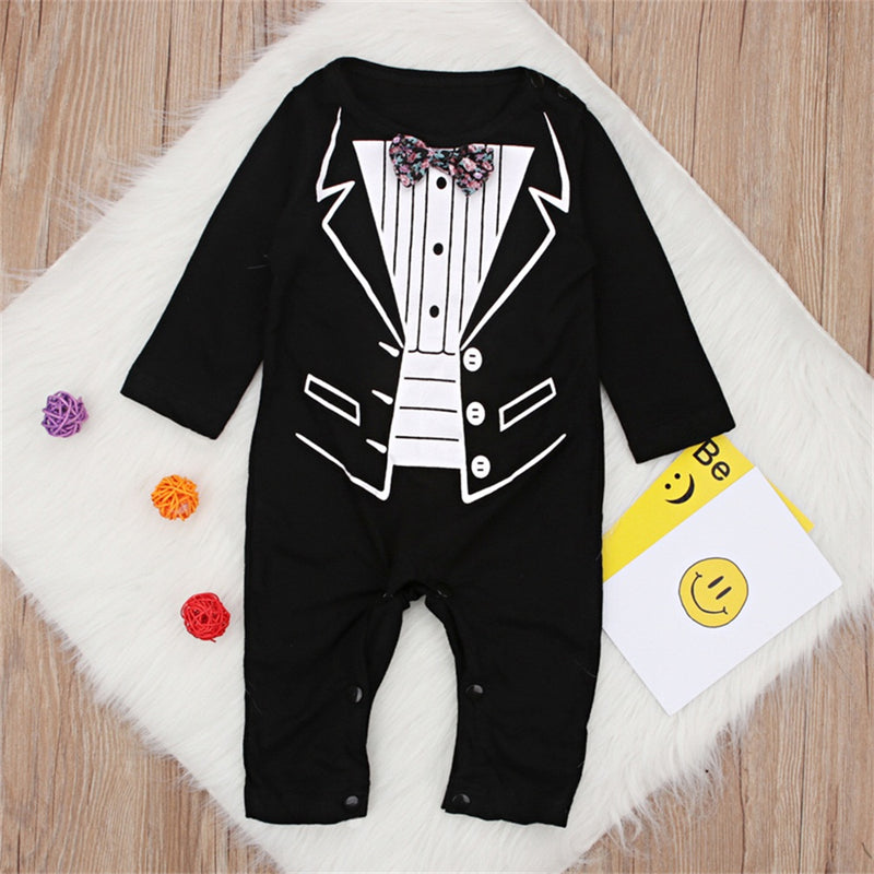Newborn Gentleman Party Romper