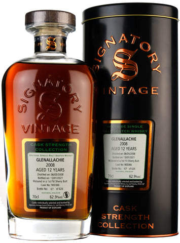 Glenallachie 2008-2021 | 12 Year Old | Signatory Vintage Cask 900366