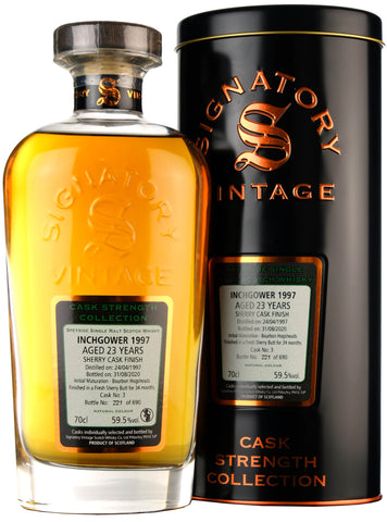 Inchgower 1997-2020 | 23 Year Old | Signatory Vintage Cask 3