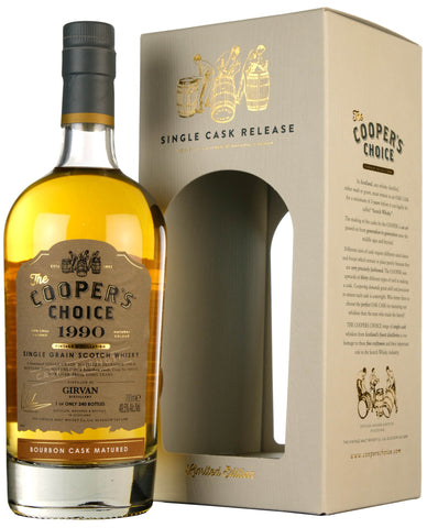 Girvan 1990-2021 | 30 Year Old Coopers Choice Cask 169111