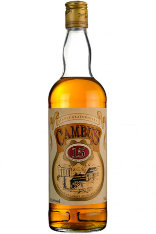 cambu 15 year old single grain whisky whiskey