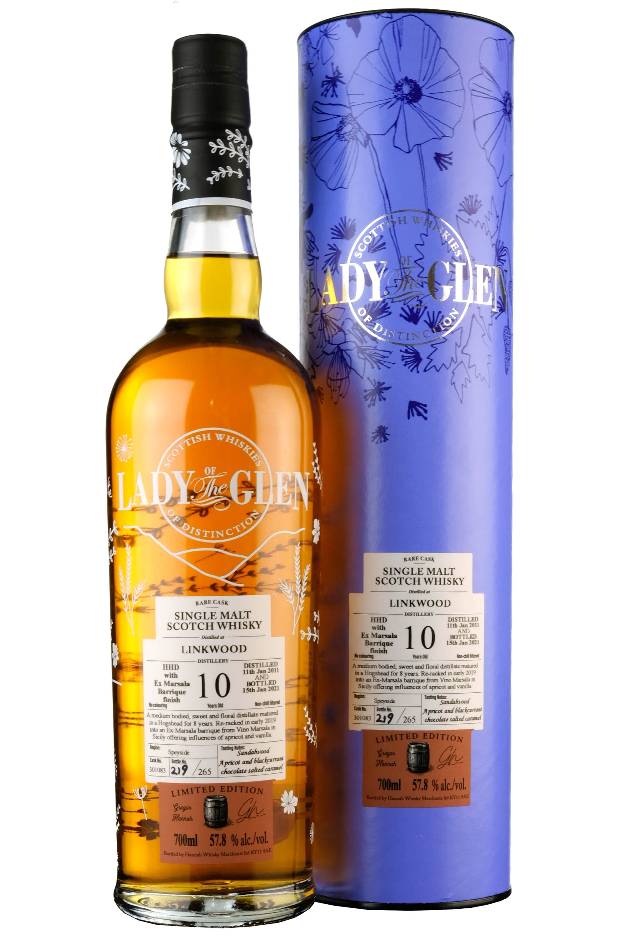 Linkwood 2011-2021 | 10 Year Old Lady Of The Glen Cask 301083