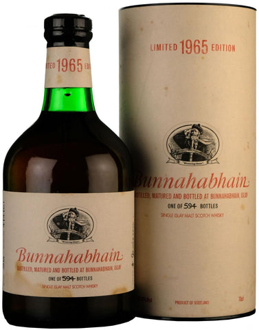 bunnahabhain 1965-2001, 35 year old, limited edition islay single malt scotch whisky