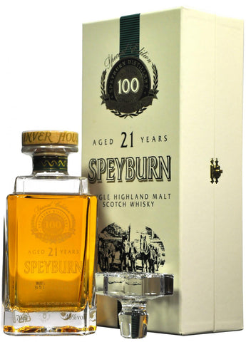 speyburn centenary, 21 year old decanter,