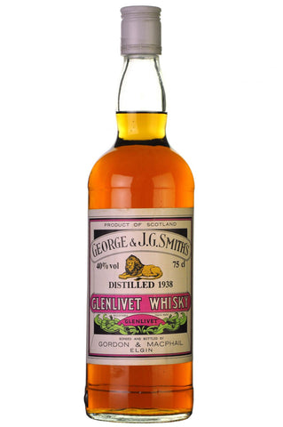 glenlivet 1938 bottled 1980s, speyside single malt, scotch whisky, whiskey