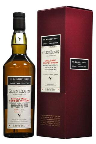 glen, elgin, 1998, 11, year, old, managers choice, speyside, single, malt, scotch, whisky, whiskey