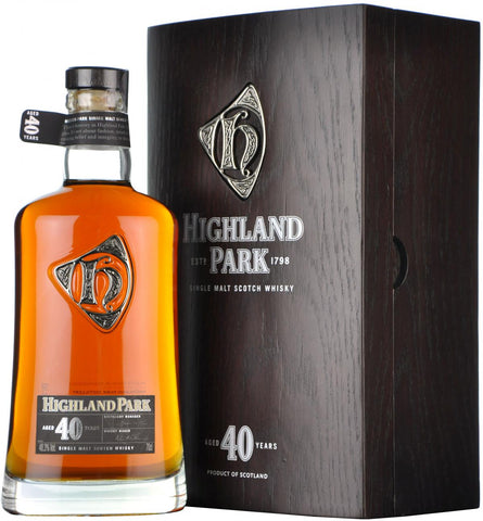 highland park 40 year old, single malt scotch whisky