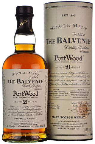 balvenie 21 year old port wood finish, speyside single malt scotch whisky