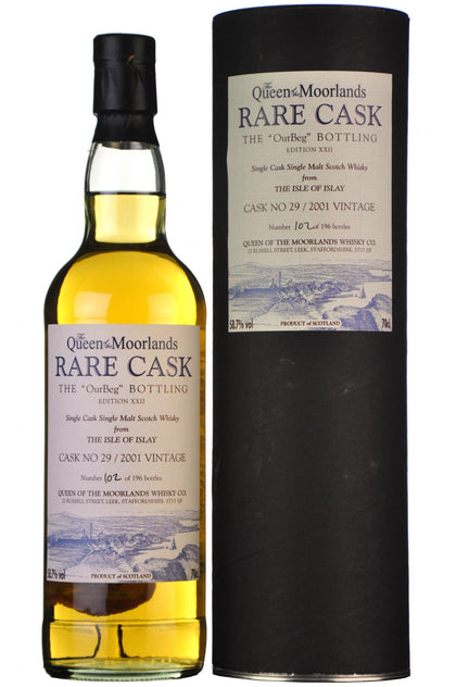 ourbeg, ardbeg, 2001, rare, cask, edition, xxii, queen, of, the, moorlands, islay, single, malt, scotch, whisky, whiskey