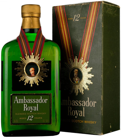 ambassador, royal, 12, year, old, blended, scotch, whisky, whiskey