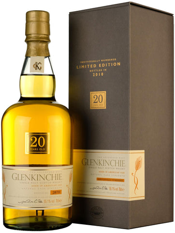 glenkinchie distilled 1990, 20 year old, lowland single malt scotch whisky whiskey