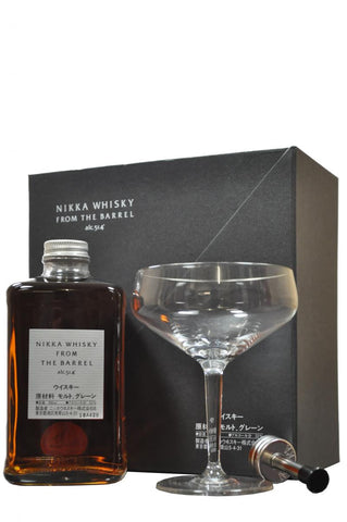 nikka, whisky, from, the, barrel, 2, glasses, and, pourer, blended, japanese, whisky, whiskey