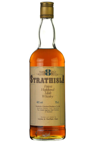 strathisla 8 year old, bottled by gordon and macphail, speyside single malt scotch whisky whiskey