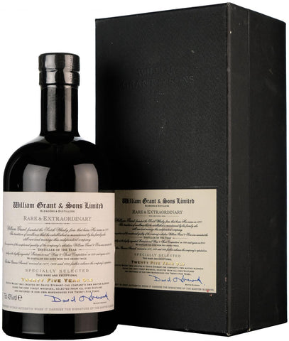 william grant rare & extraordinary 25 year old, blended scotch whisky
