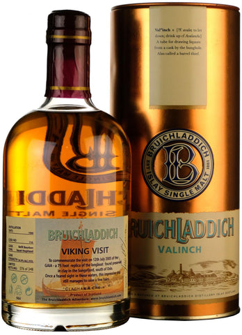 bruichladdich distilled 1990 viking visit valinch, islay single malt scotch whisky whiskey