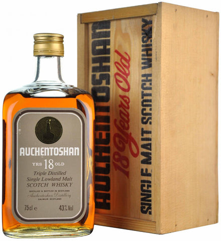 auchentoshan 18 year old, lowland single malt scotch whisky whiskey