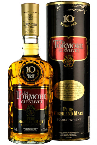 tormore-glenlivet 10 year old 1980s, speyside single malt scotch whisky