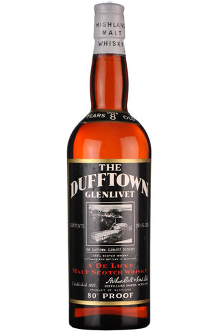 dufftown-glenlivet 8 year old 80 proof speyside single malt scotch whisky whiskey