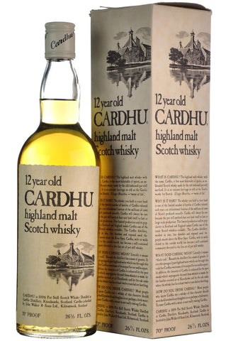 cardhu 12 year old 70 proof speyside single malt scotch whisky whiskey