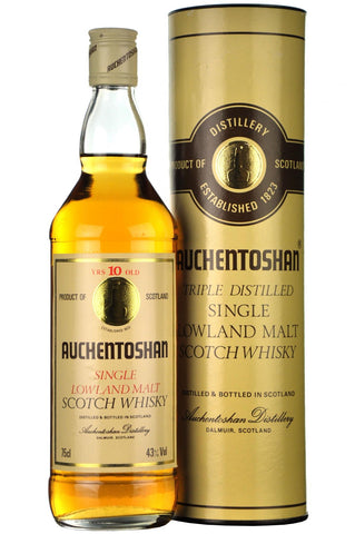 auchentoshan 10 year old 1980s, lowland single malt scotch whisky, whiskey