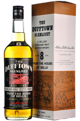 dufftown-glenlivet 8 year old 70 proof, speyside single malt scotch whisky whiskey
