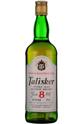 talisker 8 year old, island skye single malt scotch whisky, whiskey