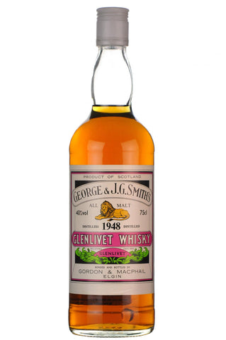 glenlivet 1948, bottled 1980, gordon and macphail, george and smith's, single malt, scotch, whisky, whiskey
