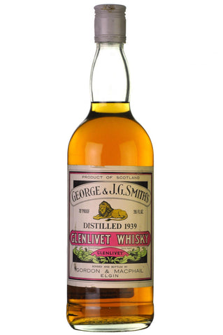 glenlivet 1939, bottled 1970, gordon and macphail, george and smith's, single malt, scotch, whisky, whiskey