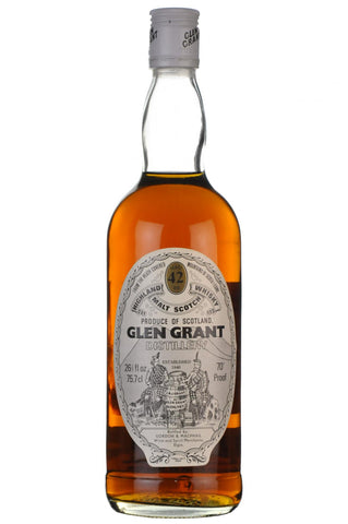 glen grant 42 year old, bottled by gordon and macphail, speyside single malt scotch whisky whiskey