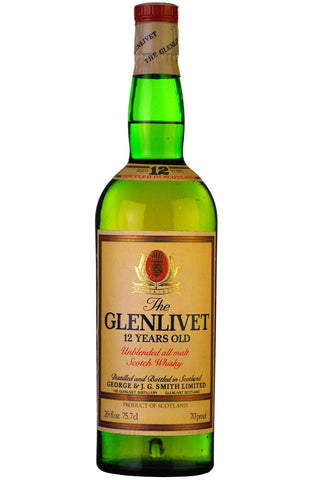 glenlivet 12 year old 1970 unblended speyside single malt scotch whisky