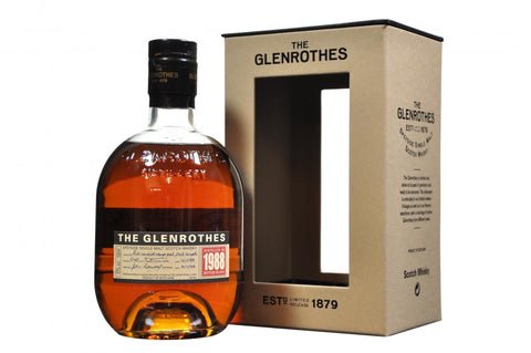 Glenrothes 1988 single speyside malt scotch whisky, whiskey.