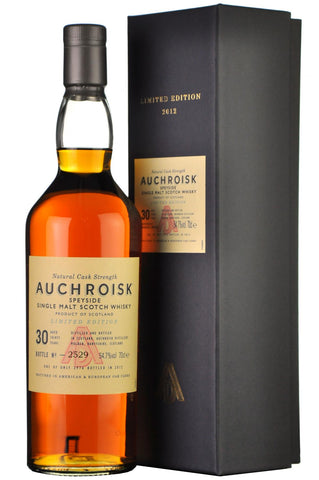 auchroisk 30 year old, bottled 2012, limited edition, speyside single malt, scotch whisky, whiskey
