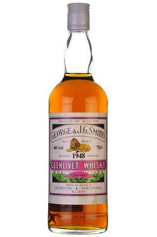 glenlivet distilled 1948 bottled 1980's by gordon and macphail speyside single malt scotch whisky whiskey