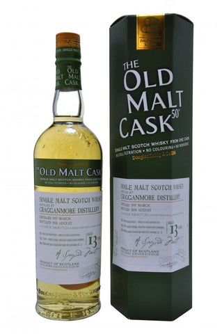 cragganmore distilled 1997, 13 year old, bottled 2010 by douglas laing old malt cask, speyside single malt scotch whisky whiskey