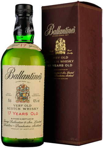 ballantine's 17 year old blended scotch whisky whiskey
